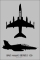 BAe Hawk 100 three-view silhouette.png