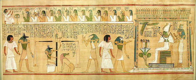 From The Egyptian Book Of Dead Weighing Heart Scribe
