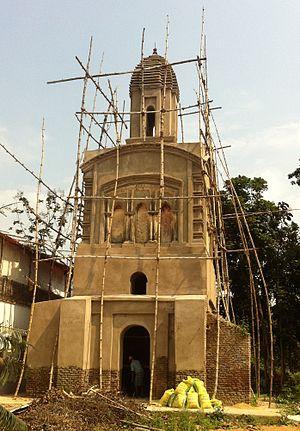 Bhaktivinoda Thakur - The entrance to Kedamath Datta's matemal home in Birnagar (Ula), West Bengal under renovation. 2014