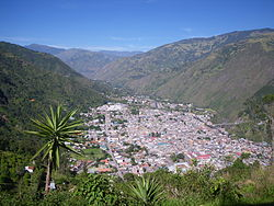 Baños from the east