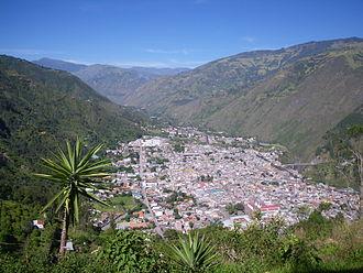 Baños de Agua Santa - Baños from the east.