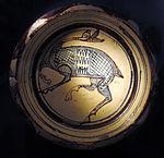 Bacino ceramico da facciata del duomo di s. miniato, nord-africa, 1190 ca. 02.JPG