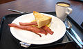 Bacon breakfast, Hong Kong Baptist University.JPG