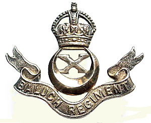 Zorawar Chand Bakhshi - Image: Badge of Baluch Regiment 1945 56