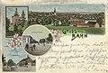 Bahn, Pommern - Stadtansicht; Pulverturm; Breitestraße (Zeno Ansichtskarten).jpg