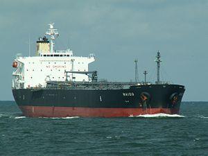 Baizo - IMO 9263916 - Callsign HPTJ approaching Port of Rotterdam, Holland 06-Aug-2005.jpg