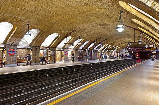 Baker Street tube station Hammersmith, City and Circle Line platform