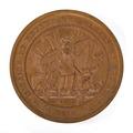 Baksida av bronsmedalj med text A Nicaise de Keyser ses leves et ses amis 1839 - Skoklosters slott - 99215.tif