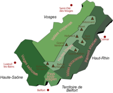 Mountain Map Of France.Vosges Wikipedia