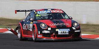 2014 Liqui Moly Bathurst 12 Hour - The Class B-winning Porsche 997 GT3 Cup of Earl Bamber, Ben Barker and Stephen Grove.