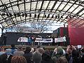 Bana Bisrat from Megafonen at demonstration against Swedish migration policy in Stockholm.JPG