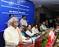 Bandaru Dattatreya addressing the gathering at the inauguration of the Annual Conference of State Channelising Agency (SCAs) of National Minority Development and Finance Corporation (NMDFC), in Hyderabad.jpg
