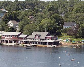 Sport in Halifax, Nova Scotia - A canoe club on Lake Banook in Dartmouth