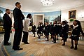 Barack Obama with children in the Diplomatic Reception Room 2012.jpg