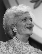 180px Barbara Bush black and white 1989