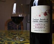 Barbera wine from Piedmont region.