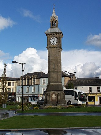 Barnstaple - Barnstaple Clock Tower, erected in 1862 as a memorial to Prince Albert