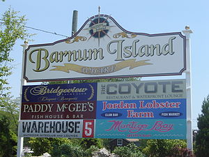 Barnum Island, New York - Image: Barnum Island Sign