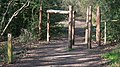Barriers on track on near Frensham Great Pond - geograph.org.uk - 1265031.jpg