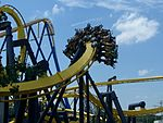 Batman:The Ride, a widely cloned Bolliger & Mabillard inverted roller coaster