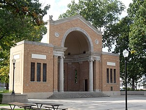 Mishawaka, Indiana - The Battell Park Historic District is one of nine sites in Mishawaka listed on the National Register of Historic Places