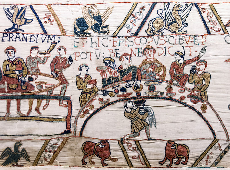 File:Bayeux Tapestry scene43 banquet.jpg
