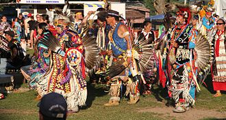 Indian reservation - Red Cliff Indian Reservation in Wisconsin during their annual pow wow