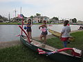 Bayou St John 4th of July NOLA 2012 Setup Canoe Flags.JPG