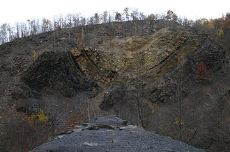 Bear Valley Strip Mine - Image: Bear Valley east wall