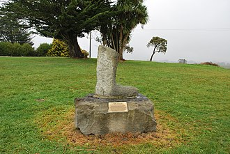Cliff Young (athlete) - Memorial to Young in the form of a gumboot in Beech Forest, Victoria