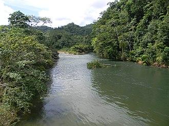 Sibun River - Sibun River, view from Hummingbird highway