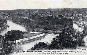 Le Chemin, Paysage à Meudon - Bellevue-Meudon, Panorama of Issy-les-Moulineaux, the Champ d'Aviation de Billancourt, and the Boucle de la Seine