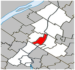 Location within La Vallée-du-Richelieu Regional County Municipality