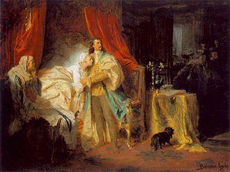 Francis II Rákóczi - Gyula Benczúr (1844–1920): Capture of Francis II. Rákóczi in Nagysáros Castle (1869)