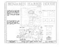 Benjamin Harris House, State Route 717, Esmont, Albemarle County, VA HABS VA,2-ESM.V,1- (sheet 1 of 9).png