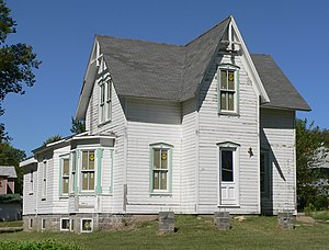 National Register of Historic Places listings in Webster County, Nebraska - Image: Bentley house (Red Cloud) from SE 2