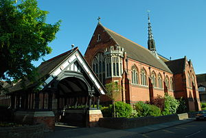 Berkhamsted School - Lych gate and chapel of the Castle Street Campus (formerly the Boys' School)