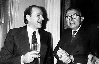 Silvio Berlusconi - Berlusconi with Giulio Andreotti in 1984