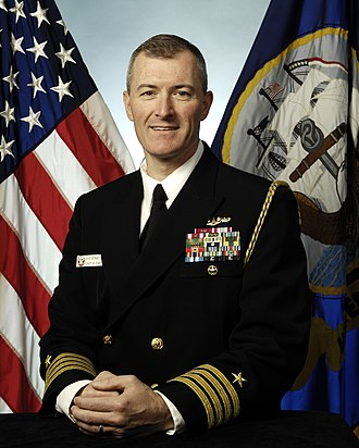 Captain (United States O-6) - A U.S. Navy submarine captain, serving as a chief of staff to a flag officer