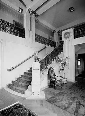Bernard Corrigan House - Stairway in the first-floor main hall