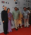 Bharat Vir Wanchoo and the Chief Minister of Goa, Shri Manohar Parrikar arrive at the inaugural ceremony of the 43rd International Film Festival of India (IFFI-2012), in Panaji, Goa on November 20, 2012.jpg