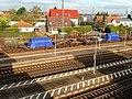 Bibliser Bahnhof- Castor-Behälter-Transport- Castor-Behälter 5.11.2013.jpg