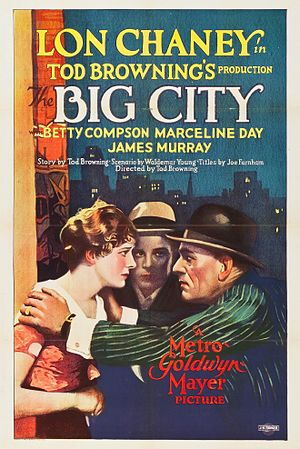 The Big City (1928 film) - Film poster