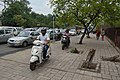 Biking on Footpath - Mathura Road - New Delhi 2014-05-13 2738.JPG