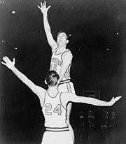 Bill Bradley playing basketball in 1964