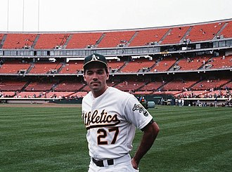 Billy Beane - Beane at the Oakland Coliseum in 1989, during his time with the A's
