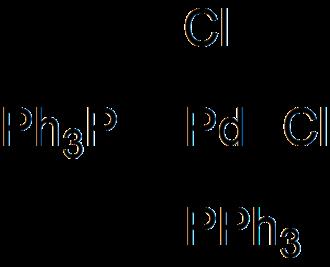 Bis(triphenylphosphine)palladium chloride - Image: Bis(triphenylphosphi ne)palladium(II) dichloride