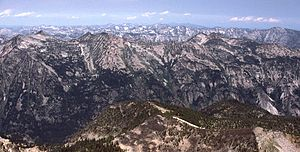 Bitterroot Range - Part of the Bitterroot Range in Montana, looking north from El Capitan peak