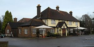 Pease Pottage - Image: Black Swan Inn, Pease Pottage