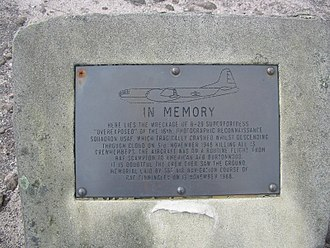 Bleaklow - Memorial plaque by the wreckage